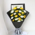 清明节款式-19朵混搭菊花花束