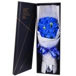 香皂花-16朵藍色香皂玫瑰花禮盒
