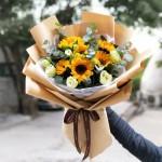 阳光满溢-6朵向日葵花束