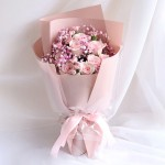 全都是你【520礼物11朵粉玫瑰花束】