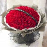 愛意如火-99朵紅玫瑰花束