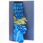 情有獨鐘-19枝藍玫瑰禮盒