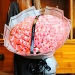 一生所爱-99朵粉玫瑰花束