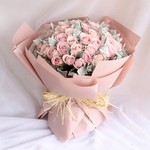 诗意情怀-52朵粉雪山花束