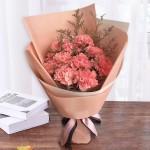 温馨时刻-11朵粉色康乃馨花束