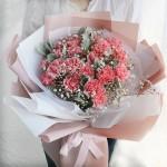 爱的祝福-19枝粉色康乃馨送母亲长辈