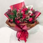 圣诞节礼物-11朵红玫瑰花束
