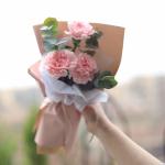 小花束-3朵粉康乃馨花束(20束起送)