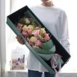 一往情深-19朵混搭玫瑰禮盒