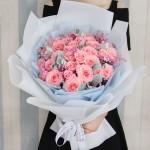 小幸運-33枝粉玫瑰花束