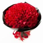 挚爱女神-99朵红玫瑰花束