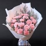 爱的祝福-19朵粉康乃馨花束