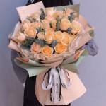 清雅-33朵香槟玫瑰花束