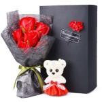 香皂花-6朵香皂玫瑰花礼盒