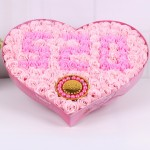 香皂花-99朵混搭香皂玫瑰花心形禮盒